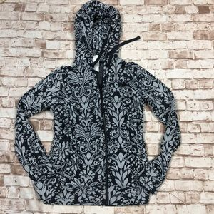 TNF north face XS paisley gray black hoodie  zip